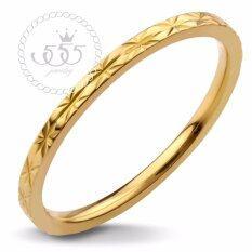 ทบทวน ที่สุด 555Jewelry แหวนดีไซน์สวยงาม รุ่น Mnc R407 B Yellow Gold แหวนผู้หญิง แหวนคู่ แหวนคู่รัก เครื่องประดับ แหวนทองผู้หญิง แหวนแฟชั่น