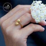 ราคา 555Jewelry เครื่องประดับ ผู้หญิง แหวน สแตนเลสสตีล แหวนบอลไขว้ แหวนแฟชั่นดีไซน์แปลกตา รุ่น Mnc R638 B สี Gold R31 แหวนผู้หญิง แหวนคู่ แหวนคู่รัก เครื่องประดับ แหวนทองผู้หญิง แหวนแฟชั่น ราคาถูกที่สุด