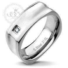 ราคา 555Jewelry แหวน สแตนเลสสตีลผู้ชาย ทรงเหลี่ยม Mnc R653 A R33 แหวนคู่รัก แหวนคู่ แหวนผู้ชายเท่ๆ แหวนแฟชั่นชาย แหวนผู้ชาย แหวนของผู้ชาย เป็นต้นฉบับ