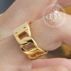 ส่วนลด 555Jewelry แหวน สแตนเลสสตีล แหวน หน้าเรียบ ลายโซ่ด้านข้างเก๋ไก๋ สี ทอง รุ่น Mnc R708 Bแหวนผู้หญิง แหวนคู่ แหวนคู่รัก เครื่องประดับ แหวนทองผู้หญิง แหวนแฟชั่น 555Jewelry ใน ไทย