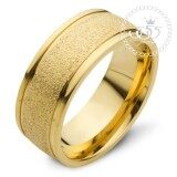 ขาย 555Jewelry แหวน สแตนเลสสตีล ดีไซน์สวยผิวทรายระยิบ Mnc R742 B สี ทอง แหวนคู่รัก แหวนคู่ แหวนผู้ชายเท่ๆ แหวนแฟชั่นชาย แหวนผู้ชาย แหวนของผู้ชาย ถูก ใน สมุทรปราการ