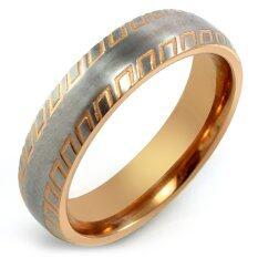 ราคา 555Jewelry แหวน รุ่น Mnr 102T C สี Pink Gold แหวนผู้หญิง แหวนคู่ แหวนคู่รัก เครื่องประดับ แหวนผู้ชาย แหวนแฟชั่น ใหม่ล่าสุด