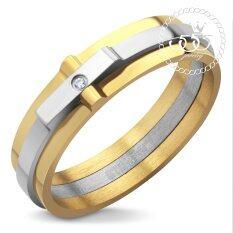 555Jewelry แหวน รุ่น Mnr 124T B Arz สี Yellow Gold แหวนผู้หญิง แหวนคู่ แหวนคู่รัก เครื่องประดับ แหวนทองผู้หญิง แหวนแฟชั่น ใน ไทย
