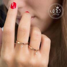 ส่วนลด 555Jewelry แหวน รุ่น Mnr 141G C Pink Gold แหวนผู้หญิง แหวนคู่ แหวนคู่รัก เครื่องประดับ แหวนผู้ชาย แหวนแฟชั่น