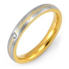 ราคา 555Jewelry แหวนเเฟชั่น รุ่น Mnr 206G B Yellow Gold แหวนผู้หญิง แหวนคู่ แหวนคู่รัก เครื่องประดับ แหวนทองผู้หญิง แหวนแฟชั่น