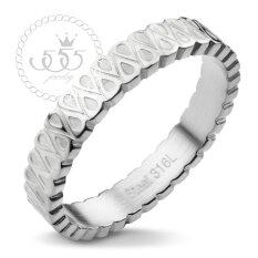 555jewelry แหวน รุ่น MNR-217G-A  (สี Steel) แหวนคู่รัก แหวนคู่ แหวนผู้ชายเท่ๆ แหวนแฟชั่นชาย แหวนผู้ชาย แหวนของผู้ชาย