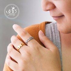 555Jewelry แหวน รุ่น Mnr 219G A Steel R74 แหวนผู้หญิง แหวนคู่ แหวนคู่รัก เครื่องประดับ แหวนผู้ชาย แหวนแฟชั่น 555Jewelry ถูก ใน สมุทรปราการ