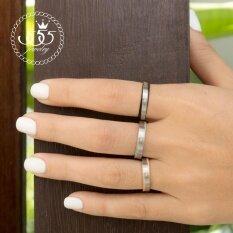 ซื้อ 555Jewelry แหวน รุ่น Mnr 230T A สี Steel แหวนคู่รัก แหวนคู่ แหวนผู้ชายเท่ๆ แหวนแฟชั่นชาย แหวนผู้ชาย แหวนของผู้ชาย