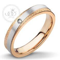 ซื้อ 555Jewelry แหวน รุ่น Mnr 230T C สี Pink Gold แหวนผู้หญิง แหวนคู่ แหวนคู่รัก เครื่องประดับ แหวนทองผู้หญิง แหวนแฟชั่น ถูก