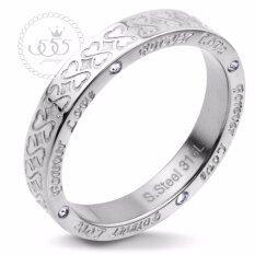 555jewelry แหวน รุ่น MNR-233T-A (Steel)แหวนผู้หญิง แหวนคู่ แหวนคู่รัก เครื่องประดับ แหวนผู้ชาย แหวนแฟชั่น