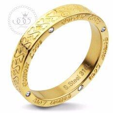ซื้อ 555Jewelry แหวน รุ่น Mnr 233T B สี Yellow Gold แหวนผู้หญิง แหวนคู่ แหวนคู่รัก เครื่องประดับ แหวนทองผู้หญิง แหวนแฟชั่น ถูก ใน ไทย