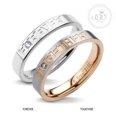 555jewelry แหวนเเฟชั่น รุ่น Mnr-254g-C (pink/gold)แหวนผู้หญิง แหวนคู่ แหวนคู่รัก เครื่องประดับ แหวนผู้ชาย แหวนแฟชั่น.