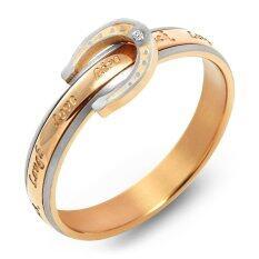ราคา 555Jewelry แหวน รุ่น Mnr 261T C สี Pink Gold แหวนผู้หญิง แหวนคู่ แหวนคู่รัก เครื่องประดับ แหวนผู้ชาย แหวนแฟชั่น เป็นต้นฉบับ