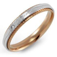 ขาย ซื้อ 555Jewelry แหวน รุ่น Mnr 270G C Pink Gold แหวนผู้หญิง แหวนคู่ แหวนคู่รัก เครื่องประดับ แหวนผู้ชาย แหวนแฟชั่น