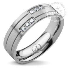 555jewelry แหวนเเฟชั่น รุ่น Mnr-292t-A (steel)แหวนผู้หญิง แหวนคู่ แหวนคู่รัก เครื่องประดับ แหวนผู้ชาย แหวนแฟชั่น.