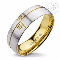 โปรโมชั่น 555Jewelry แหวนเเฟชั่น รุ่น Mnr 294T B Yellow Gold แหวนผู้หญิง แหวนคู่ แหวนคู่รัก เครื่องประดับ แหวนทองผู้หญิง แหวนแฟชั่น ใน ไทย