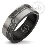 ซื้อ 555Jewelry แหวนผู้ชาย แหวนเรียบ กัดลาย รุ่น Mnr 336T D สี ดำ แหวนคู่รัก แหวนคู่ แหวนผู้ชายเท่ๆ แหวนแฟชั่นชาย แหวนผู้ชาย แหวนของผู้ชาย 555Jewelry