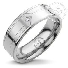 555jewelry แหวนผู้ชาย แหวนเรียบ กัดลาย รุ่น MNR-338T-A (สี สตีล) (R45) แหวนคู่รัก แหวนคู่ แหวนผู้ชายเท่ๆ แหวนแฟชั่นชาย แหวนผู้ชาย แหวนของผู้ชาย
