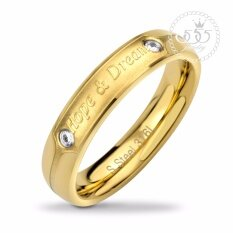 ซื้อ 555Jewelry แหวน รุ่น Mnr 355T B Yellow Gold แหวนผู้หญิง แหวนคู่ แหวนคู่รัก เครื่องประดับ แหวนทองผู้หญิง แหวนแฟชั่น ใหม่