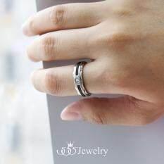 ขาย 555Jewelry แหวนดีไซน์สไตล์ Modern ประดับด้วย Cz สีขาว รุ่น Mnc R053 Bk สีดำ แหวนคู่รัก แหวนคู่ แหวนผู้ชายเท่ๆ แหวนแฟชั่นชาย แหวนผู้ชาย แหวนของผู้ชาย ถูก ใน ไทย