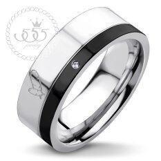 ขาย ซื้อ 555Jewelry แหวน รุ่น Mzr 1010 B S Black แหวนคู่รัก แหวนคู่ แหวนผู้ชายเท่ๆ แหวนแฟชั่นชาย แหวนผู้ชาย แหวนของผู้ชาย ใน ไทย