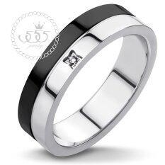 ส่วนลด 555Jewelry แหวน รุ่น Mzr 1015 B S สี Black แหวนคู่รัก แหวนคู่ แหวนผู้ชายเท่ๆ แหวนแฟชั่นชาย แหวนผู้ชาย แหวนของผู้ชาย 555Jewelry ใน ไทย