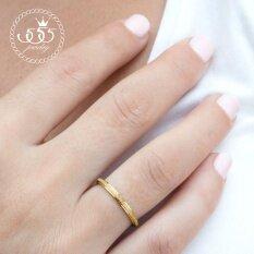 ราคา 555Jewelry เครื่องประดับ ผู้หญิง แหวนสแตนเลสสตีลSand Dust Tiny Ring รุ่น Mnc R691 B สี ทองแหวนผู้หญิง แหวนคู่ แหวนคู่รัก เครื่องประดับ แหวนทองผู้หญิง แหวนแฟชั่น