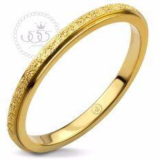 ขาย 555Jewelry เครื่องประดับ ผู้หญิง แหวนสแตนเลสสตีลSand Dust Tiny Ring รุ่น Mnc R691 B สี ทองแหวนผู้หญิง แหวนคู่ แหวนคู่รัก เครื่องประดับ แหวนทองผู้หญิง แหวนแฟชั่น เป็นต้นฉบับ