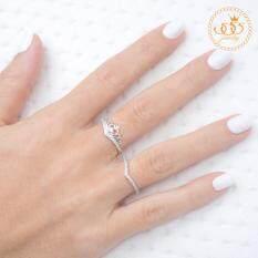 ซื้อ 555Jewelry แหวนเงินแท้ ดีไซน์แหวนเพชรสวิส เครื่องประดับ แหวนผู้หญิง Sterling Silver 925 Fashion Jewelry Women Ring ดีไซน์ Heart Tiara และ แหวนมินิมอล แหวนเพชรสวิส ได้สินค้า 2 ชิ้นตามภาพ รุ่น Md Slr005 Slr B1 555Jewelry ออนไลน์