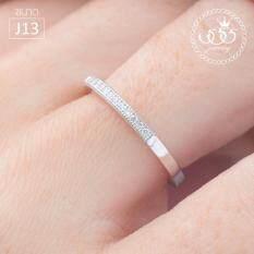 ราคา 555Jewelry แหวนเงินแท้ ดีไซน์แหวนเพชรสวิส เครื่องประดับ แหวนผู้หญิง Sterling Silver 925 Fashion Jewelry Women Ring ดีไซน์มินิมอล แหวนแถวฝังเพชรสวิส รุ่น Md Slr018 Slr B1 ออนไลน์ สมุทรปราการ