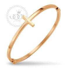 โปรโมชั่น 555Jewelry Stainless Steel 316L Bangle กำไล ผู้หญิง รุ่น Mnc Bg233 C Pink Gold กำไลข้อมือ กำไลข้อมือหญิง กำไลข้อมือคู่ กำไลข้อมือทอง