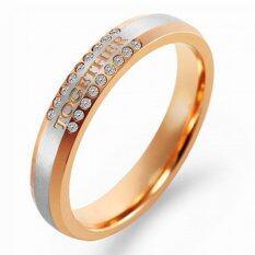 ขาย 555Jewelry Stainless Steel 316L Ring แหวน รุ่น Mnr 197T C Pink Gold แหวนผู้หญิง แหวนคู่ แหวนคู่รัก เครื่องประดับ แหวนผู้ชาย แหวนแฟชั่น ออนไลน์
