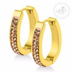 ราคา 555Jewelry ต่างหูห่วงทรงตัว U ประดับ Cz สีแชมเปญ รุ่น Mnc Er718 B1 Gold Er42 ต่างหู ต่างหูแฟชั่น ต่างหูหนีบ ต่างหูทอง ต่างหูเงิน ต่างหูผู้หญิง