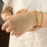 โปรโมชั่น 555Jewelry สร้อยข้อมือลาย Twisted Rope Chain สี ทอง รุ่น Mnc Br389 B สร้อยข้อมือดีไซน์เรียบ สแตนเลสสตีล สร้อยข้อมือ สร้อยข้อมือผู้หญิง สร้อยข้อมือคู่ สร้อยข้อมือทอง กำไลข้อมือหญิง ข้อมือสแตนเลส 555Jewelry ใหม่ล่าสุด