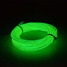 ขาย 5 เมตรนำแสงเรืองแสงแบนเอลรางลวดท่อรถเต้นรำปาร์ตี้ Usbcontroller สีเขียวอ่อน นานาชาติ ใน จีน