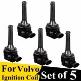5Pcs New Black Ignition Coil For Volvo 1999 2013 Xc70 Xc90 C70 S60 Uf341 9125601 30713416 Intl แองโกลา