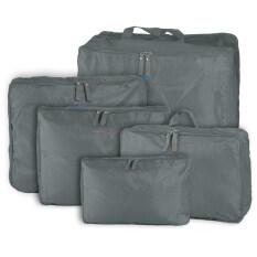 ขาย 5Pcs Travel Luggage Storage Bag Clothes Organizer Handbag Grey ใน จีน