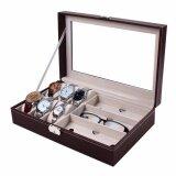 ราคา กล่องใส่นาฬิกาและกล่องแว่นตา ใส่นาฬิกา 6 เรือน แว่นตา 3 ช่อง หุ้มหนังPuอย่างดี ใหม่ ถูก