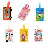 ส่วนลด 6 Pcs 1 Set Colourful Cute Sweety Lovely Student Silicone Luggage Bag Travel Suitcase Identifier Luggage Tags Labels Holiday Baggage Bag Id Name Address Holder Intl Unbranded Generic ใน จีน