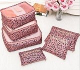 ขาย 6 Pcs Print Travel Suitcase Closet Divider Container Storage Bag Set For Clothes Tidy Organizer Packing Cubes Laundry Bag Intl ใน จีน