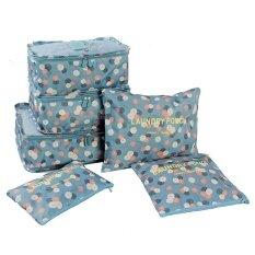 ราคา ราคาถูกที่สุด 6 Pcs Print Travel Suitcase Closet Divider Container Storage Bag Set For Clothes Tidy Organizer Packing Cubes Laundry Bag Intl