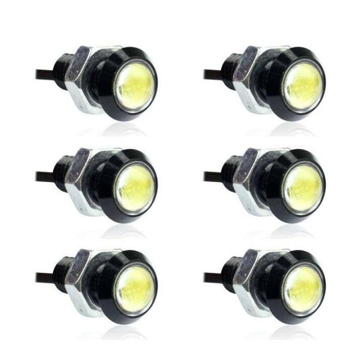 แนะนำ 6pcs Car Eagle Eye LED Daytime Running DRL Tail Backup Light 3W White – intl