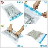 6Pcs Roll Up Vacuum Compression Storage Bags Home Travel Storage Space Saver Intl Unbranded Generic ถูก ใน Thailand