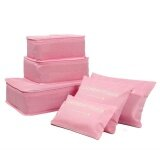 6Pcs Waterproof Travel Storage Bags Clothes Packing Cube Luggage Organizer Pouch Pink Intl จีน