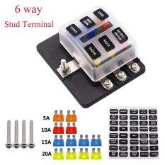 ราคา 6Way And 12 Fuse Box 12V 32V Circuit Standard Blade Block Holder Kit Car Caravan Black Intl Unbranded Generic