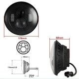 ราคา 7 Motorcycle Black Projector Daymaker Headlight Hi Lo Led Light Bulb For Harley Unbranded Generic แองโกลา