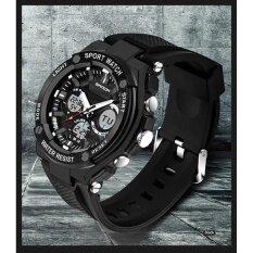 ราคา เอ้าท์เล็ท 733 ของผู้ชายคนสองเวลาแสดงกันน้ำดิจิตอลช็อตทนจับกลางแจ้งทหาร Led สบาย ๆ Wristwatches นานาชาติ เป็นต้นฉบับ Sanda