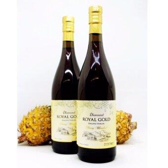 น้ำส้มสายชูหมักจากสับปะรด ผสมน้ำผึ้ง ตราไดมอนด์ รอยัลโกลด์ รุ่นฮันนี่เบลนด์ สูตรเข้มข้น 750 มล.