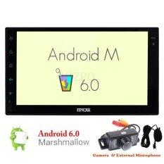 ราคา 7Inch Double 2Din Stereos With Quad Core Android 6 System In Dash Gps Navigation Car Stereo Headunit Bluetooth Cam In External Microphone Autoradio Support Obd Wifi 4G 3G Usb Sd Fm Am Rds Radio Receiver With Rearview Camera Intl ใหม่ ถูก
