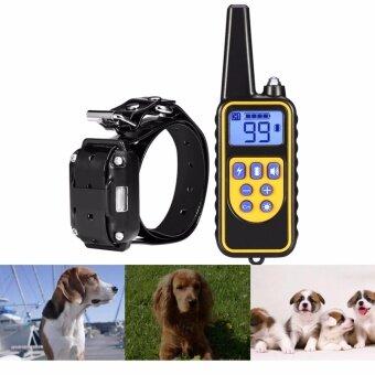 800 เมตรกันน้ำรีโมทคอนโทรลสุนัขฝึกอบรมการไฟฟ้าคอ